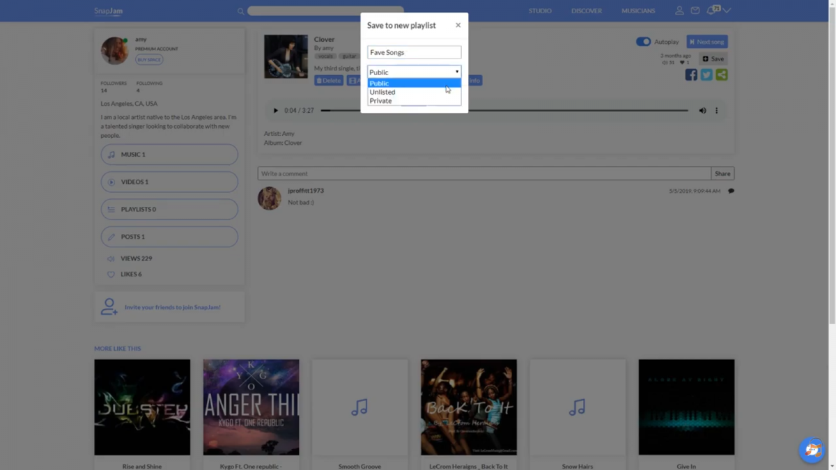 Create Playlists on SnapJam! (Tutorial)